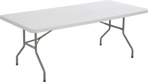Plastic Fold Up Table 1830mm 760mm x 720mm drop