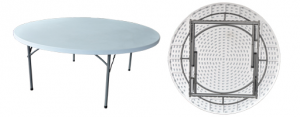 round fold up table
