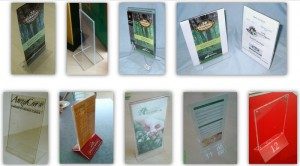 MENU LEAFLET HOLDER